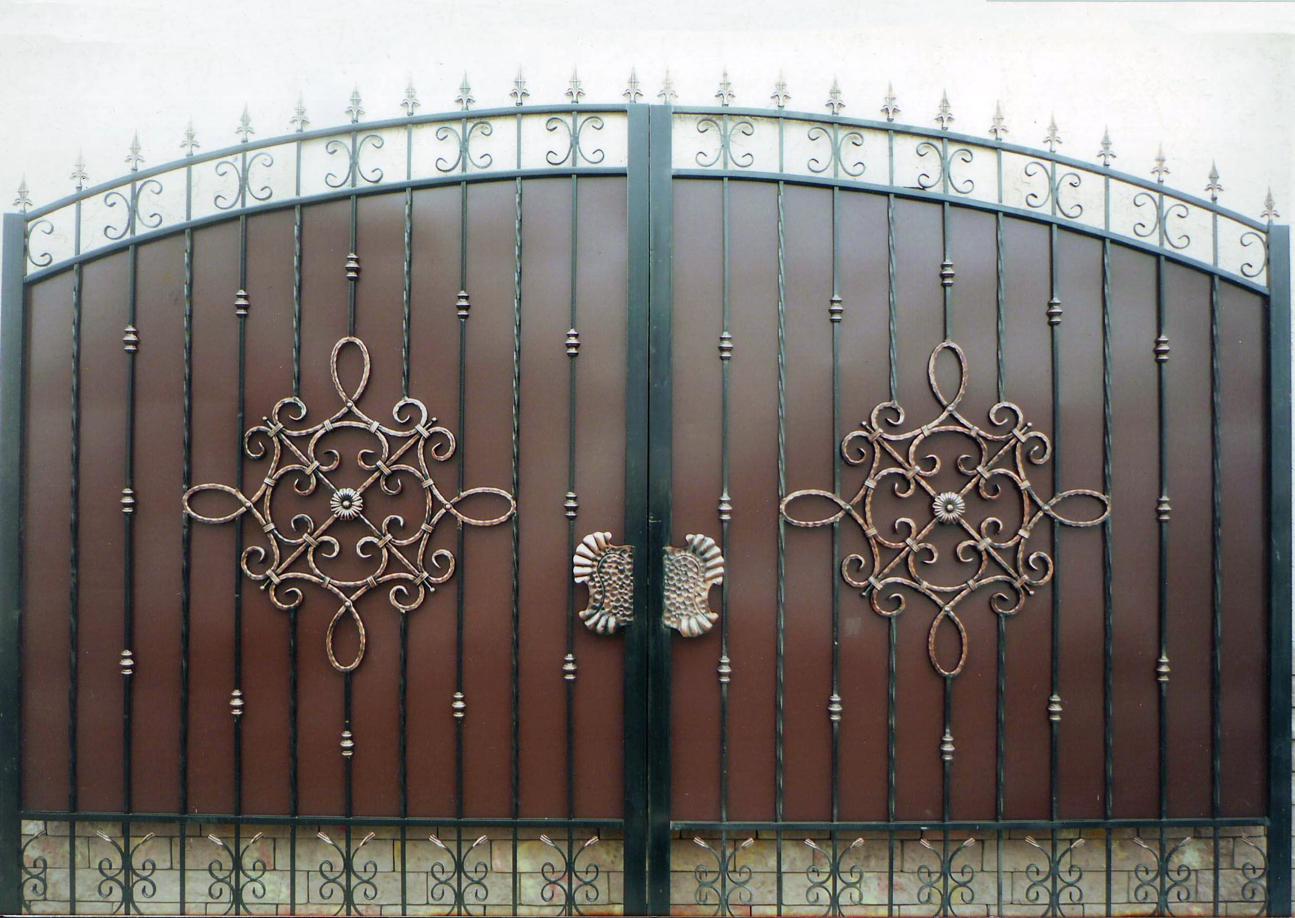 Схема кованых ворот фото